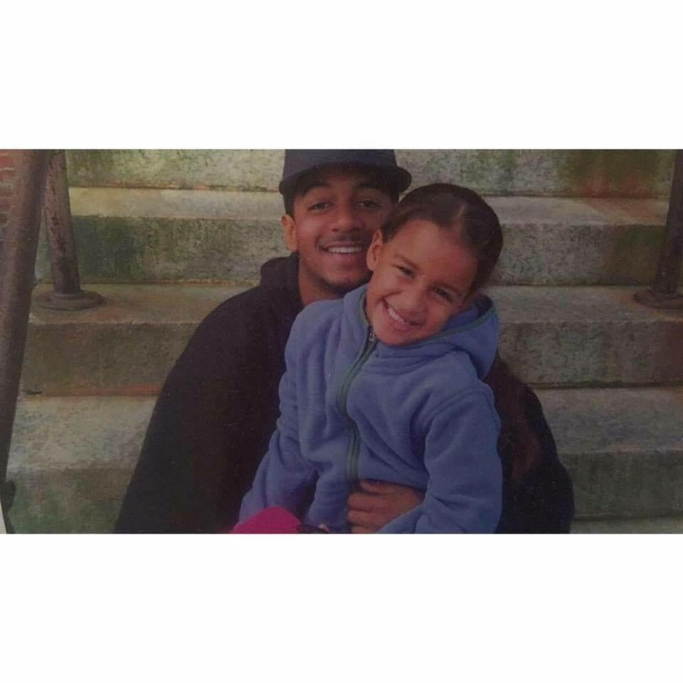 Aaron Brito and daughter.